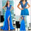 2016 Sexy Party Dresses Split V-Neck Celebrty Evening Dress EV99921