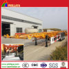 3axles Skeleton Semi Container Trailer with Straight Frame