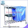 Bss024 Stainless Steel Linen Trolley with Dust Bag