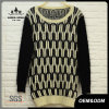 Women Pitch Sleeve Striped Sweater