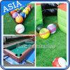 Inflatable Billiard Ball Snooker Football Field Table Sports Game, Inflatable Pool Table Snookball, Football Billiards