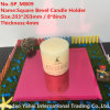 4mm Light Red Bevel Glass Mirror Candle Holder