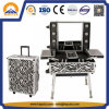 Large Zebra Cosmetic Trolley Case with LED & Mirror (HB-3501)