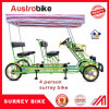 4 Person Surrey Bike with 2 Person Trailer