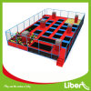 Customized Big Indoor Big Gymnastic Trampoline Park with Basketball Hoops