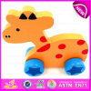 Educational Wooden Animal Pull Toy for Kids Games, Hot Sale Children Animal Wooden Pull Toy for Promotion W05b110