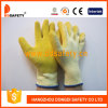 Ddsafety 2017 White Cotton Shell Yellow Latex Coated Working Gloves