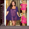 Good Quality Purple Plus Size Underwear Sexy Babydoll Lingerie (TSW6128)
