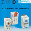 Control Panel DIN Rail Mounting Bimetal Temperature Thermostat (KTO011 KTS011)