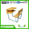 Popular School Furniture Wooden Combo Student Desk and Chair (SF-89S)