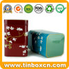 Square Metal Tin Box Tea Packaging for Food Tea Caddy
