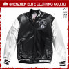 Popular Black Fashion Satin Varsity Winter Bomber Jacket (ELTBJI-17)