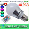3W 4W E27 16 Color LED RGB Magic Light Bulb with Wireless Remote Control, RGB LED Light