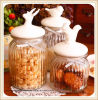 Glass Candy Storage Jar with Ceramic Lid