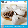 Decorative Heart Fruit Plate Candy Box with Wooden Tray