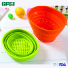 Export to Japan, USA, Europe Silicone Collapsible Strainer Rubbish Bin