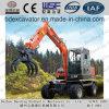 Widely Used New Small Wheel Excavators Catching Wood/Sugarcane Machine