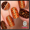 Professional Manufactory for Halloween Mix of Pumpkins, Bats, and Harlequin Print Nail Art Sticker
