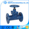 DIN3352 Flange Resilient Seat Non Rising Stem Cast Iron Gate Valve