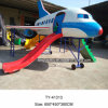 Tongyao Fiberglass Airplane Outdoor Playground Equipment Airplane with Slide