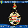 Custom High Quality Irregular Shape Metal Medal with Lanyard