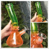 12 Inch Twisted Neck Glass Water Pipes with Gradient Colors