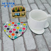 Heart Shape Blank Sublimation Printing Cork MDF Coaster
