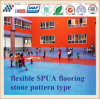 Abrasion and Skid Resistant Flexible Spua Flooring with Stone Pattern Type
