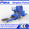 Q69 Angle Structure Shot Blasting Machine with Wheel Roller