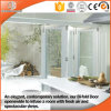 Russian Frameless Wood Aluminum Glass Folding Doors, Good View Effects and Good Lighting Quality Glass Door