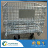 Wholesale Steel Industry Wire Mesh Container with Wheels
