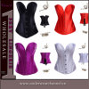 Top Quality Fashion Overbust Satin Steel Bonded Corset (TA830)