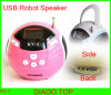 Mini Speaker+1.5 Inch TFT Color Screen+FM Radio Support USB/SD Card  (KV-1)