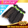 "7A 12"" Kinky Curl100% Brazilian Virgin Remy Human Hair Extensions"