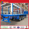 3 Axles 50 Ton Side Ranches Removable Flatbed Trailer
