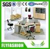 Aluminium Screen Simple Design Four Seats Office Desk (OD-74)
