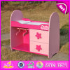 2015 Pink Wooden Doll Bed Toy with Furniture, Best Sell Wooden Doll Bed with Two Cabinet, High Quality Wooden Toy Doll Bed W06b025
