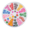 White Wheel 3D Fimo Art Nail Decals for Ongle Decorations