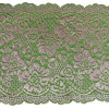 China Pink Flower Sequin Lace Fabric 18 Cm Wide