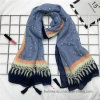 Fashion Thin Polyester Voile Printed Scarf with Heart Design (Hz28)