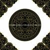 Golden Black Carpet Puzzle Floor Tiles for Prayer Room