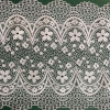 Wholesale Ivory White Flower Swiss Voile Trim Lace Net Fabric