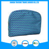 Blue Wave Machine Printed Polyester Cosmetic Bag Big Pouch for Makeup