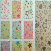 Flower Pattern Glitter PU Synthetic Leather Decorative Leather (HS-M393)