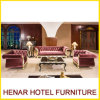 Royal Living Room Wedding Velvet Sofa for Hotel Lobby Furniture