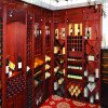 Villa Luxury Mahogany Wine Furniture Cabinet Rack (GSP19-009)