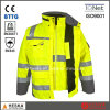 En20471 En343 3: 3 High Visibility 3 in 1 Parka Safety Reflector Jacket