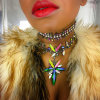 Fashion Colorful Rhinestone Crystal Choker Necklace Jewelry