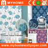 Damask Flower Design Deep Embossed Vinyl Wall Paper for Hotel