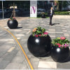 Fo-186 Round Decorative Fiberglass Planter for Indoor and Outdoor
